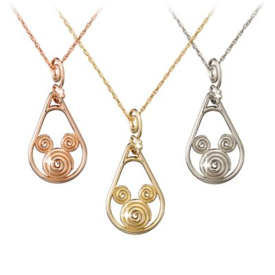 【取寄せ】ディズニー Disney US公式商品 ミッキーマウス ネックレス ジュエリー アクセサリー 14金 ゴールド [並行輸入品] Mickey Mouse Gold Coiled Necklace - 14K
