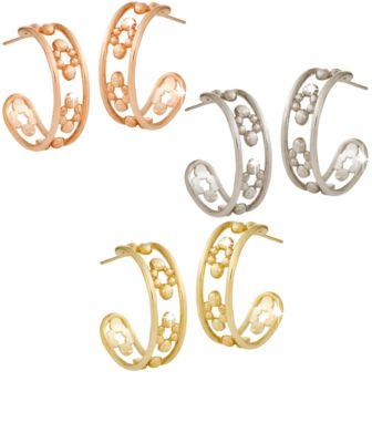 【取寄せ】ディズニー Disney US公式商品 ミッキーマウス ピアス ジュエリー アクセサリー 18金 ゴールド [並行輸入品] Mickey Mouse Hoop Earrings - 18K