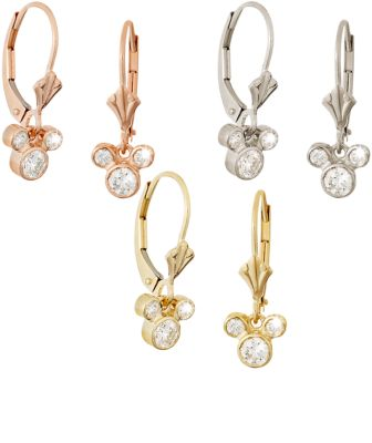 【取寄せ】ディズニー Disney US公式商品 ミッキーマウス ピアス ジュエリー アクセサリー [並行輸入品] Mickey Mouse Fleur-de-Lis Earrings - Gold