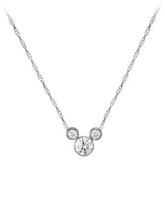 【取寄せ】ディズニー Disney US公式商品 ミッキーマウス ネックレス ジュエリー アクセサリー 【大サイズ】 [並行輸入品] Mickey Mouse Necklace - Large