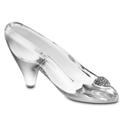【取寄せ】ディズニー Disney US公式商品 シンデレラ プリンセス スリッパ 靴 シューズ くつ ガラスの靴 置物 グラス ガラス アリバスブラザーズ 【中サイズ】 [並行輸入品] Cinderella Glass Slipper by Arribas - Medium Personalizable