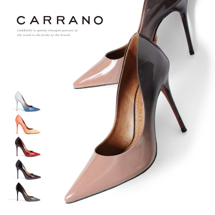 パンプス CARRANO ハイヒール ポインテッドトゥ ピンヒール ヒール11cm カラーノ ヒール (661124) 結婚式 靴 【送料無料】