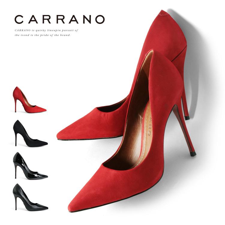パンプス CARRANO ハイヒール ポインテッドトゥ ピンヒール ヒール11cm カラーノ ヒール (661125) 結婚式 靴 【送料無料】