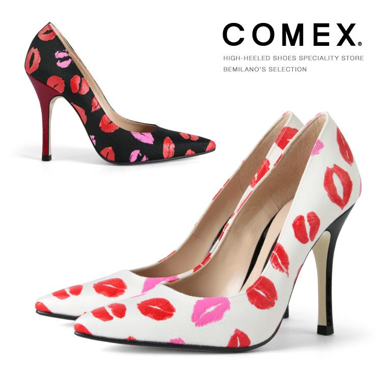コメックス パンプス ハイヒール ピンヒール ヒール10cm ポインテッドトゥ ピンヒール 本革 パンプス COMEX ヒール (5597) 美脚 結婚式 靴 【送料無料】