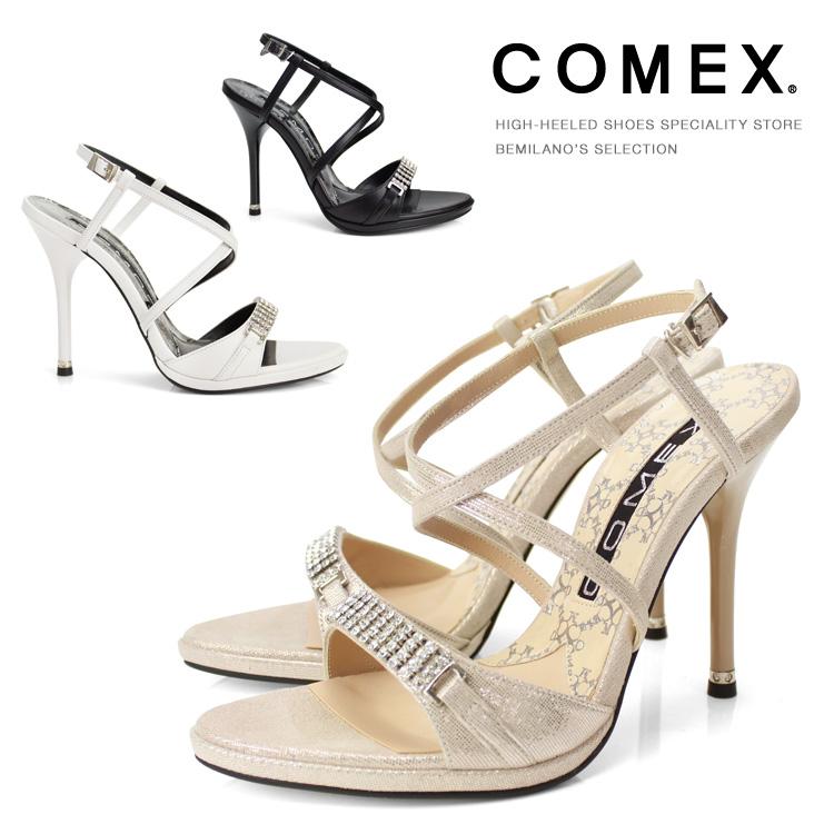 【訳あり】 【アウトレット】 コメックス サンダル ハイヒール ヒール11cm ハイヒール ピンヒール 5598 結婚式 靴