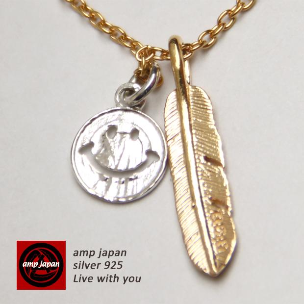 【 ポールスミス のデザイナーが手がけたブランド】 AMP JAPAN アンプジャパン ゴールドフェザーネックレス 14ah-146 AMPJAPAN アンプ フェザーネックレス アンティークネックレス フェザー ゴールド ネックレス アンティーク メンズ レディース