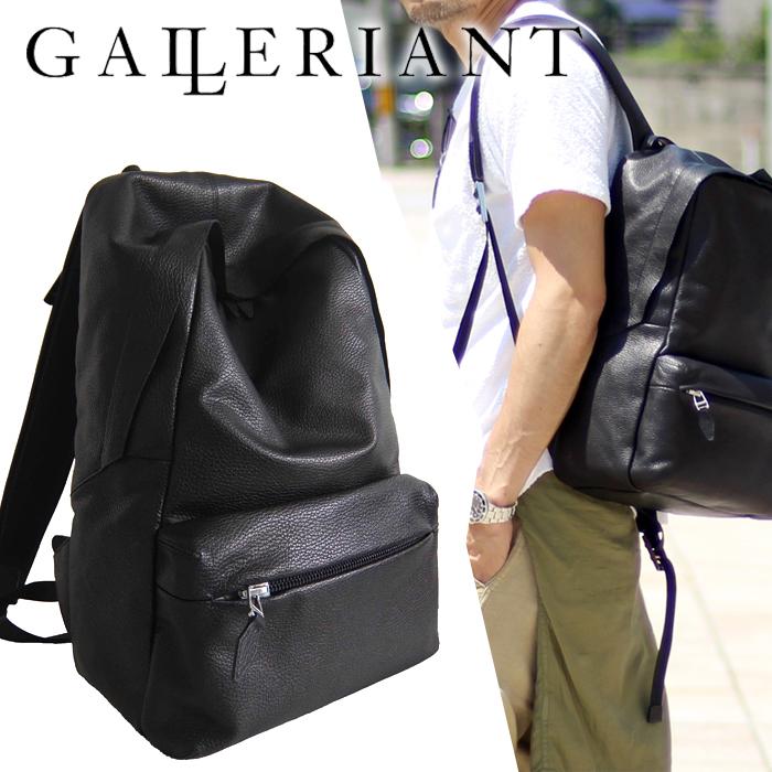 GALLERIANT ガレリアント レザーリュック レザーバック レザーバッグ ビジネスバッグ ビジネスリュック リュックサック リュック 鞄 カバン バッグ レザー 本革 革 仕事 ビジネス GAW-3650 CROLLARE メンズ 男性 ブラック 黒 グレー