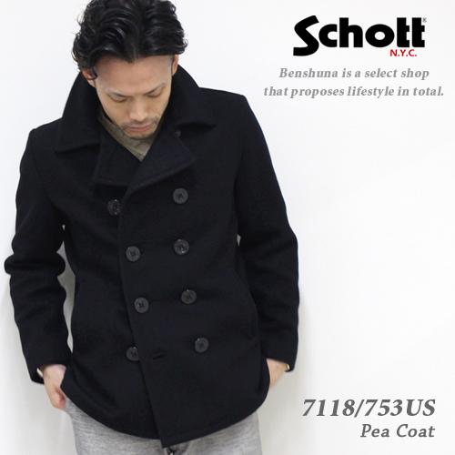 Schott(ショット)ピーコート 753US 24オンスモデル Pコート