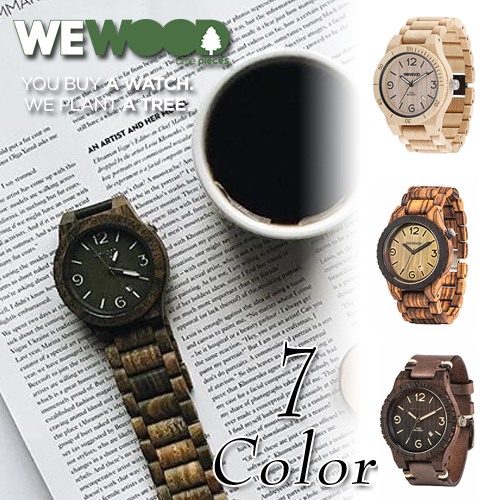 WEWOOD ( ウィーウッド ) 木製アナログウォッチ 『 ALPHA -アルファ- 』 全7色 メンズ / 2018年春夏新作 腕時計 ウッド アナログ プレゼント ラッピング ナチュラル 軽量 生活防水