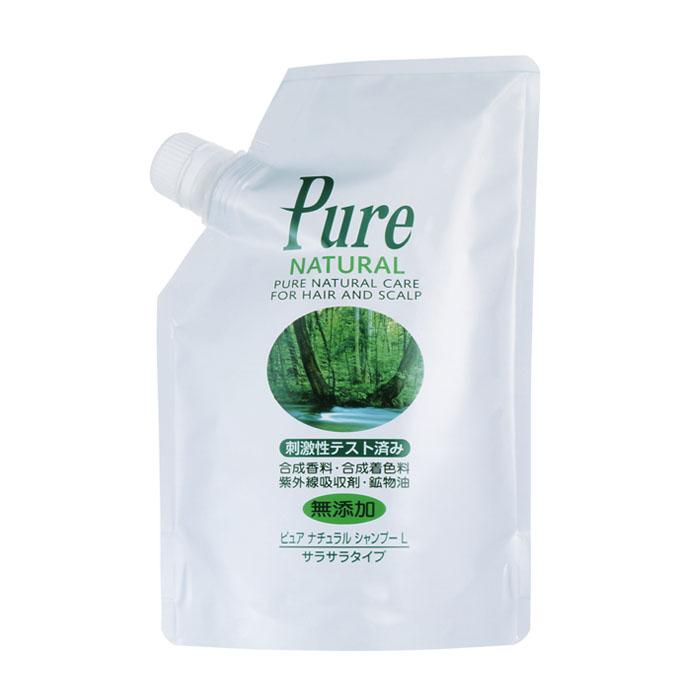 公式 ピュアナチュラルシャンプーL 正規品 400mL 信託 詰替え 植物成分配合の無添加 ノンシリコン 低刺激シャンプー サラサラタイプ