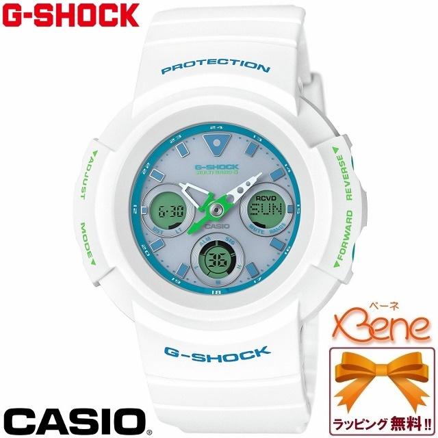 【正規品・送料無料!】CASIO/カシオ G-SHOCK/ジーショック WHITE & LIGHT BLUE/ホワイト&ライトブルー メンズタフソーラー電波 マルチバンド6 ワールドタイム 20気圧防水 ホワイト ミントグリーン×ターコイズブルー AWG-M510SWG-7AJF