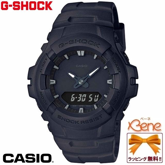 《即出荷OK!》【正規品・送料無料!】CASIO/カシオ G-SHOCK/ジーショック BASIC BLACK Series/ベーシックブラックシリーズデュアルタイム アナデジ メンズククオーツ マットブラック G-100BB-1AJF