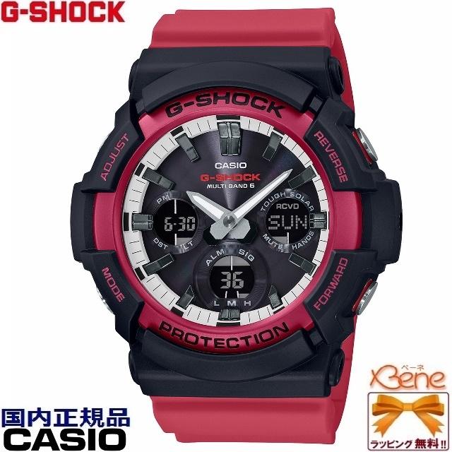 '19-5-17[正規品/送料無料!]CASIO G-SHOCK/ジーショック RED,BLACK & WHITE Series/レッド,ブラック&ホワイト メンズタフソーラー電波 フルオートライト マルチバンド6 ワールドタイム 20気圧防水 赤×黒×白 GAW-100RB-1AJF