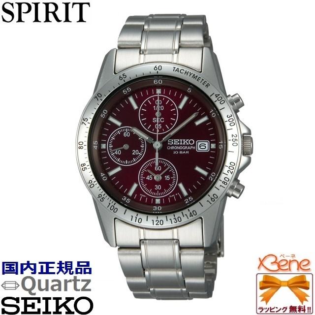【超特価♪】SEIKO/セイコーSPIRIT/スピリットクロノグラフ メンズウォッチレッド/赤文字板 SBTQ045