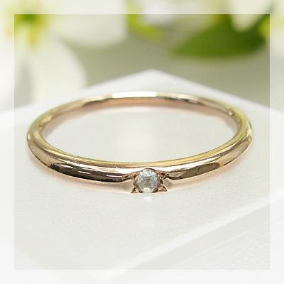 シンプルが輝くスタイル!ローズカットダイヤモンド リング送料無料