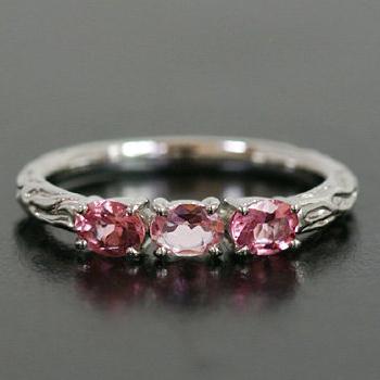 アフガニスタン産ピンクトルマリンリング「ラーマ」 誕生石 10月 春色ピンク