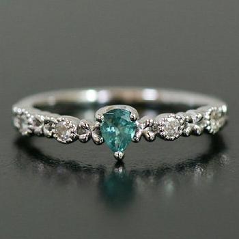 ブルートルマリン×ローズカットダイヤモンド「フィオラート」 誕生石 4月 10月
