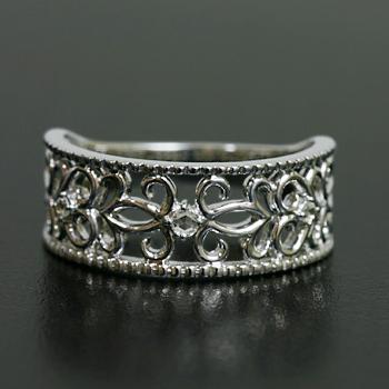 エントリーのみでポイント10倍 4/9 20時~ ローズカットダイヤモンド 「気品のアラベスクリング」送料無料