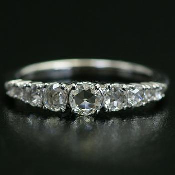 エントリーのみでポイント10倍 4/9 20時~ ローズカットダイヤモンド「グラデーション」リング、対応金種:K18(ホワイトゴールド、イエローゴールド、シャンパンゴールド、ピンクゴールド)、