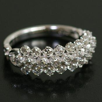 エントリーのみでポイント10倍 4/9 20時~ 25石の煌めき!ローズカットダイヤモンドリング