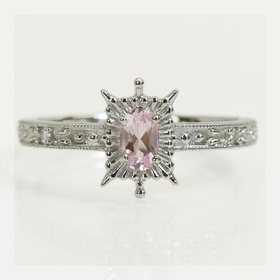 GWイベント開催中 モルガナイト×ローズカットダイヤモンドリング 誕生石 4月 春色ピンク2020 母の日