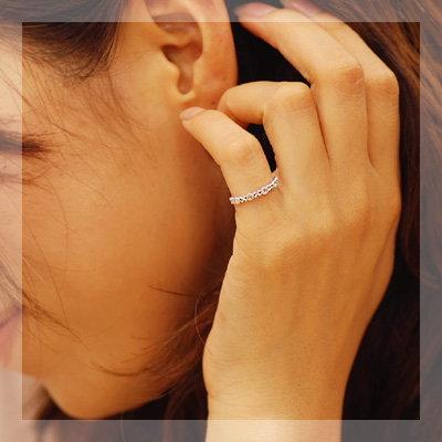 핑 키 로즈 컷 다이아몬드 링 「 베로니카 로즈 」 대응 금 종: K18 (WG, YG, SG, PG) 대응 사이즈: 0.5 호 ~ 5.5 호