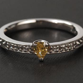 エントリーのみでポイント10倍 4/9 20時~ カラーダイヤモンド×ローズカットダイヤモンドリング送料無料