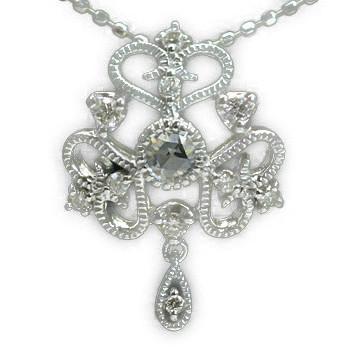 GWイベント開催中 ダイヤモンドペンダントトップ「スカーレット」(チェーン無し) 誕生石 4月 母の日