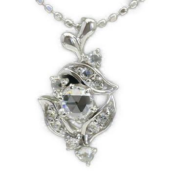 GWイベント開催中 「フリューテ」ローズカットダイヤモンドペンダントトップ(チェーン無し) 誕生石 4月 母の日