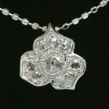 GWイベント開催中 「フレグラントレディ」ローズカットダイヤモンドペンダントトップ(チェーン無し) 誕生石 4月 母の日