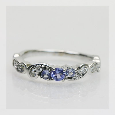 GWイベント開催中 タンザナイト×ダイヤモンドリング「フルエンテ」 誕生石 4月 12月 母の日