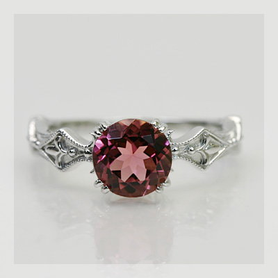 ザンビア産ピンクトルマリンリング「コルニーチェ」 誕生石 10月 春色ピンク