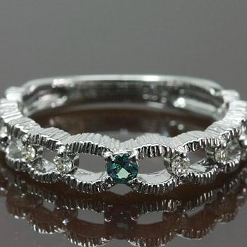 GWイベント開催中 エメラルドマイン アレキサンドライト×ダイヤモンドミル打ちデザインリング 誕生石 4月 6月 母の日