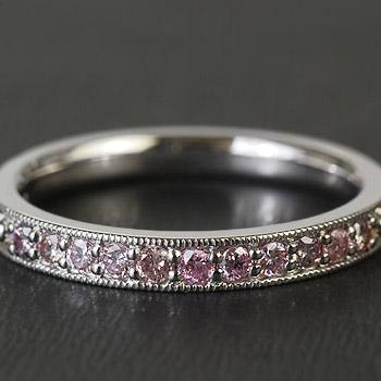 GWイベント開催中 アーガイル鉱山産 ピンクダイヤモンド リング プラティコ ※K18WGは通常3週間を1週間で発送します。 誕生石 4月 春色ピンク2020 母の日