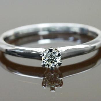 エントリーのみでポイント10倍 4/9 20時~ 立て爪が魅せるダイヤモンド1石ストレートリング