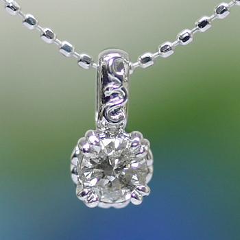 GWイベント開催中 ツタの葉モチーフダイヤモンドペンダントトップ 誕生石 4月 母の日