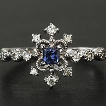GWイベント開催中 アレキサンドライト×ダイヤモンドリング「デコーレ」 誕生石 4月 6月 母の日