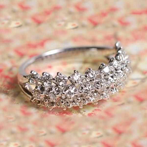 GWイベント開催中 《プレミアム》K18ダイヤモンドトレリング 誕生石 4月 母の日