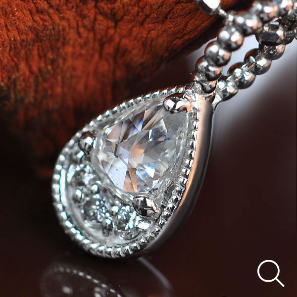 ローズカットダイヤモンド×ブリリアントカットダイヤモンペンダントトップ「朝露」K18、K10金種対応※K10仕様は別ページにございます。送料無料