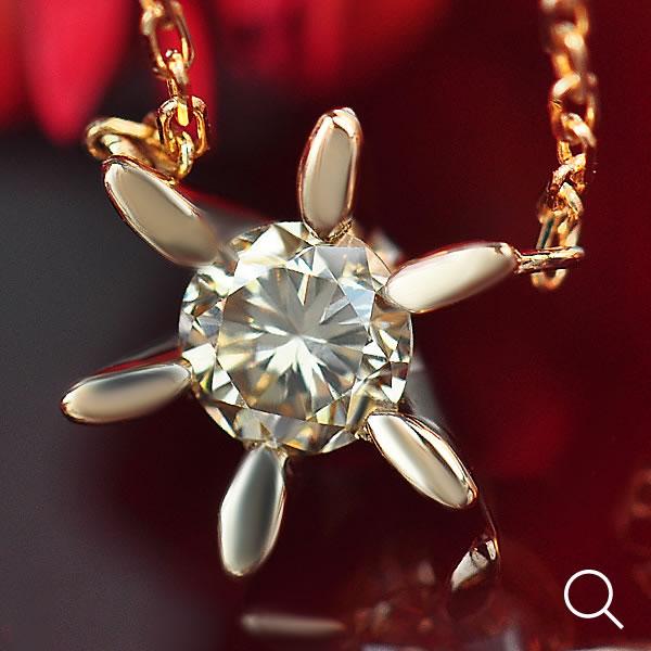 エントリーのみでポイント10倍 4/9 20時~ 《ベーネブリリアント》ダイヤモンドネックレス、 シャンパンカラーダイヤモンド、ブリリアントカットペンダントネックレス※チェーン、鑑定カード付き