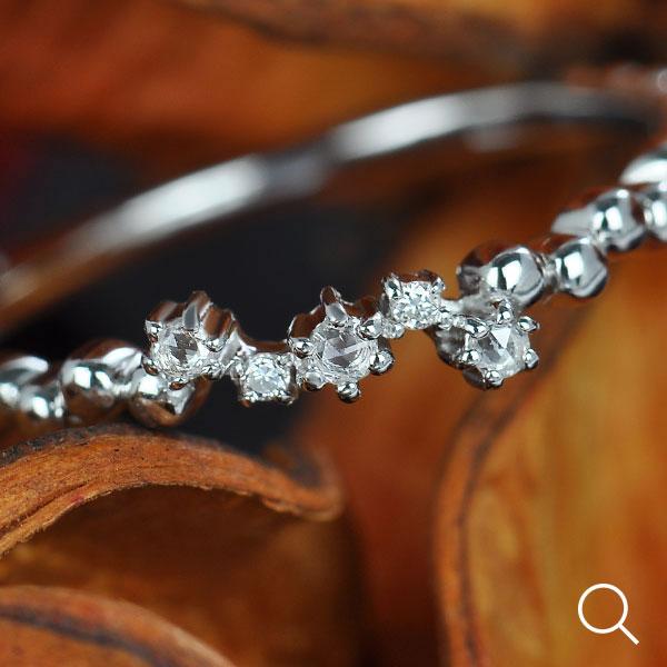 GWイベント開催中 ローズカットダイヤ×ダイヤモンドリング「フラグメント」 誕生石 4月 母の日