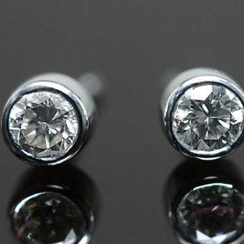 プラチナ900製ダイヤモンド3ミリ スマートピアス ※こちらのピアスは1ペアの金額です