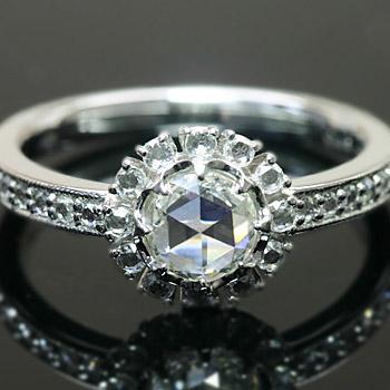 良質  5.5mmローズカットダイヤモンド アンティークデザイン ダイヤモンド リング 誕生石 4月, 仙台ホークス 2bd7260c