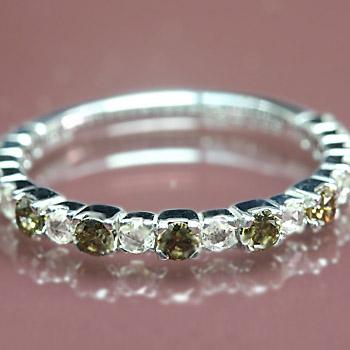 ポイント10倍 プラチナ900製ブラウンダイヤモンド×ローズカット ダイヤモンドリング 誕生石 4月