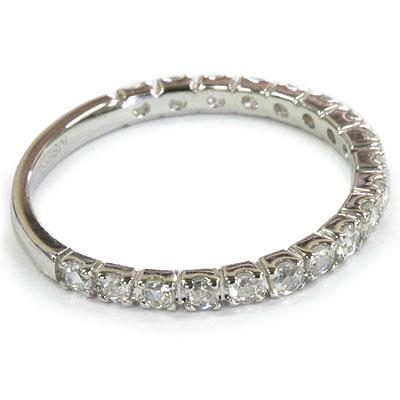 19石が整然と並ぶ、ローズカットダイヤモンド リング 誕生石 4月