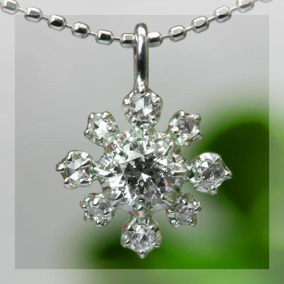 エントリーのみでポイント10倍 4/9 20時~ グレード・ダイヤモンド&ローズカットダイヤペンダントトップ送料無料