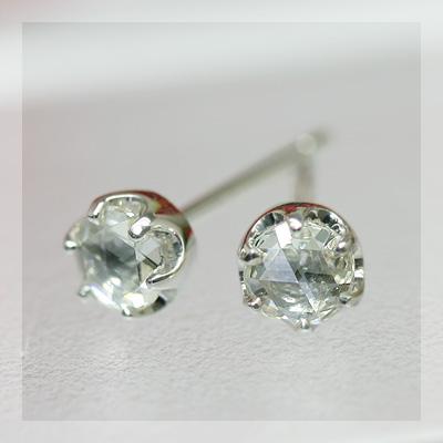 エントリーのみでポイント10倍 4/9 20時~ ローズカットダイヤモンド3.6ミリ ティファニーセッティングピアス ※こちらのピアスは1ペアの金額です送料無料