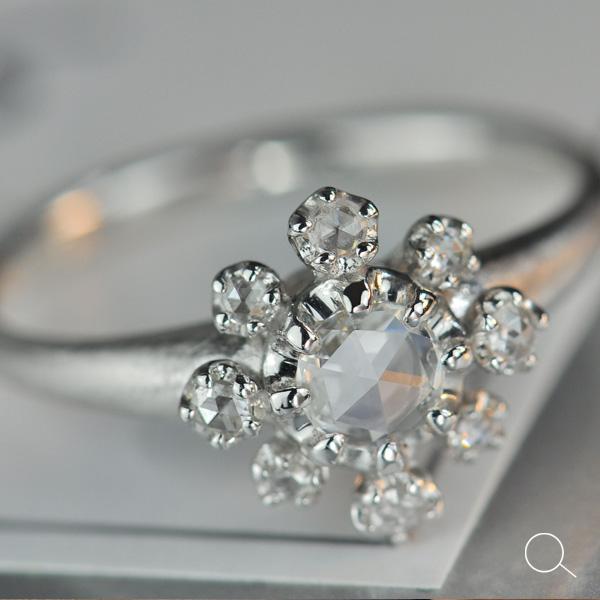 エントリーのみでポイント10倍 4/9 20時~ ローズカットダイヤモンド ニュービンテージリング「スプルッツォ」送料無料