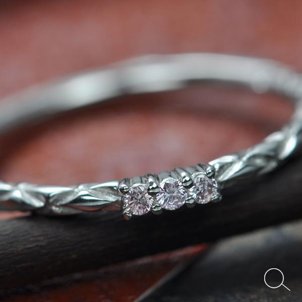 Stacking Ringアーガイル産ピンクダイヤモンドリング※割引対象外 誕生石 4月 春色ピンク