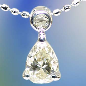GWイベント開催中 限定再販 ローズカットダイヤモンド&ダイヤモンドペアシェイプペンダント 誕生石 4月 母の日